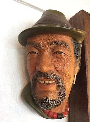 Bossons plaster chalkware head face plaque