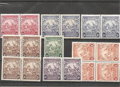 Barbados MNH/MH selection of 1938 KGVI Definitive Issue. See list below