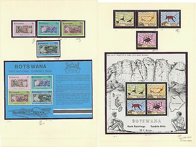 Botswana collection including MNH stamps + MNH sheets + better - 10 scans