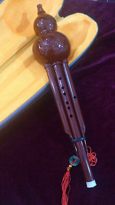 Chinese Traditional Gourd Flute Bottle Gourd SilkImitative Procelain Hulusi
