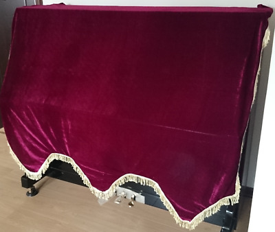 Standard Velvet Size Adjustable Downdrop  W Easy-pull Zippers Piano Dust Cover