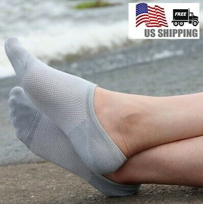 5/10 Pack Men/Women Bamboo Loafer Boat Ankle Invisible Low Cut No Show Socks Lot
