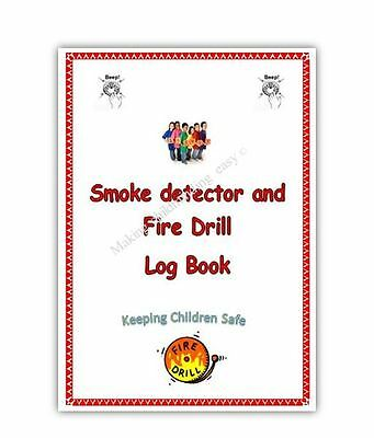 Smoke Detector and Fire Drill log book EYFS childminding childminder resource