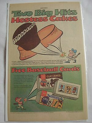 1979 Hostess Cakes and Baseball Cards Ad in Color