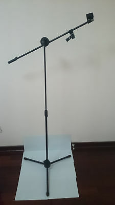 Professional Stage Studio Tripod Microphone Stand Adjustable Boom Black
