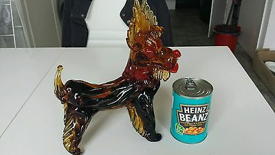 vintage murano glass scottie dog large REDUCED
