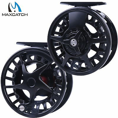 Maxcatch 5/6/7/8WT Aluminum Black Left Right-hand Fly Fishing Reel