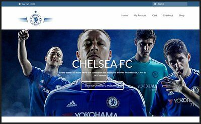 Fully Stocked Dropshipping CHELSEA FC Website High Profit Margin GET IT FREE
