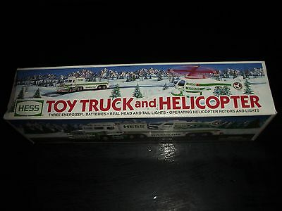 1995 Hess Toy Truck And Helicopter In Box