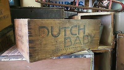 Vintage wooden crate Dutch baby powered whole milk advertising crate kitchenilia