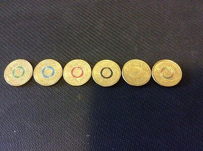 2016 Rio Olympic $2 Coins -1 X Full Set