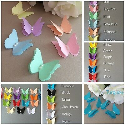 25 Paper 3d Butterfly Wedding Table Decoration Card Toppers Embellishments