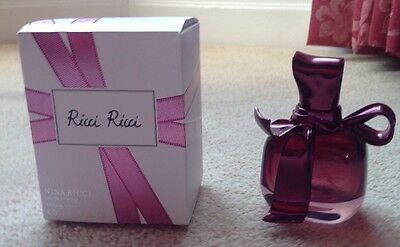 Nina Ricci Empty 50ml Eau De Parfum Ricci Ricci Bottle + Box Excellent Condition