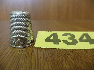 Vintage Scandinavian / Continental Solid Silver Thimble