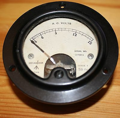Moving Iron Meter, 15 V AC FSD, 1943, GWO