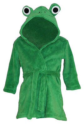 bnwt BABY BOYS/GIRLS FROG ROBE HOODED SUPERSOFT DRESSING GOWN 9-12 months GREEN
