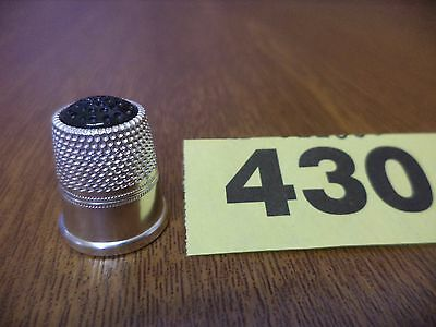 Vintage .925 Solid Silver Thimble with Green Stone Top