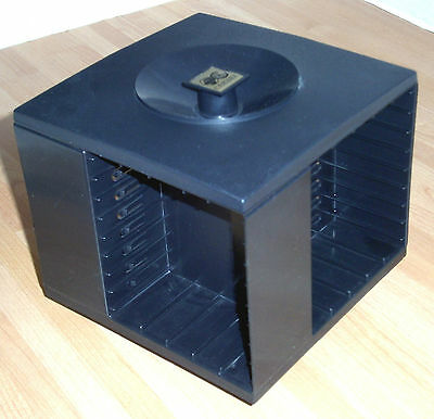 Late 70s Vintage CAMBRA Rotating Audio Cassette Tape Storage CAROUSEL   upto 32