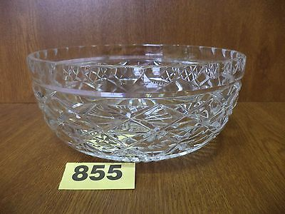 Large Waterford Cut Crystal Fruit Bowl / Table Centrepiece