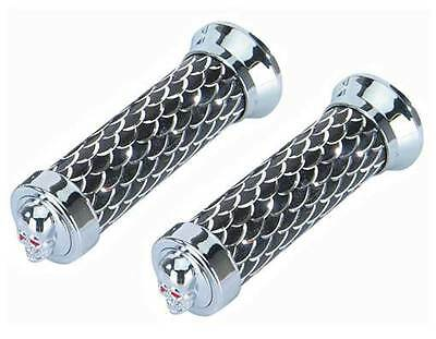 Grips Square Classic W//Streamers Chrome Beach Cruiser Bicycle Grips 165541