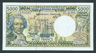 F.C. FRENCH PACIFIC TERRITORIES , 5000 FRANCOS 1996 , MBC ( VF+ ) , P.3f .