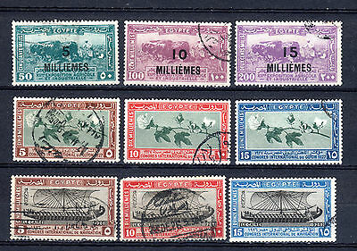 Egypt 1926 Selection Of Used Stamps