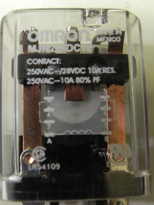 Omron MJN2C‑DC12 Plug in Relay Dpdt,12Vdc coil New