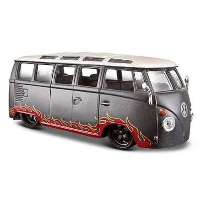 Maisto Outlaws Vw Camper Van Samba 1:25 Scale Die Cast Model, Collectable