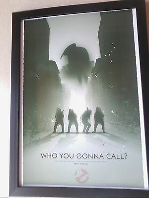 Ghostbusters 30th anniversary art framed poster print