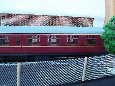 Model Railway Mesh Fence x 3 OO Gauge  Hand Made