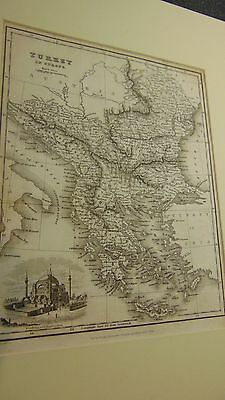 Circa 1820 A Map Of Turkey Gray & Son Published By Blackie