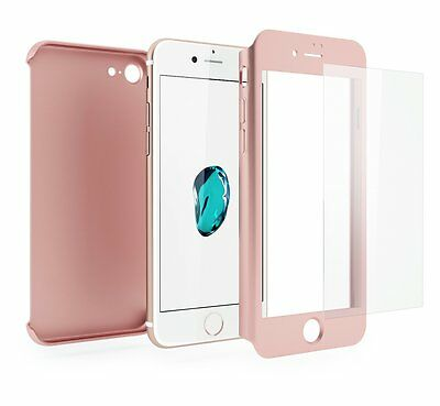 Coque Etui + Verre Trempe Protection Integrale 360 iPhone 6 6S 7 8 Plus X 5S SE