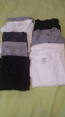 Mens Tee-Shirts (Lot of 12 ) Assorted Colors Grey White Black Various Sizes