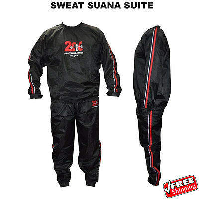 2Fit Heavy Duty Sweat Suit Sauna Exercise Gym Suit Fitness Weight Loss, New