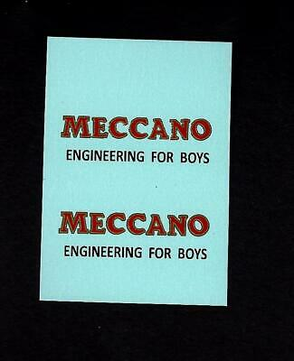 DINKY No 33d MECHANICAL HORSE - MECCANO TRANSFERS/DECALS
