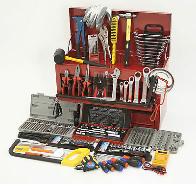 Hilka 270 Piece Tool Kit Set And 9 Drawer Tool Storage Chest Box