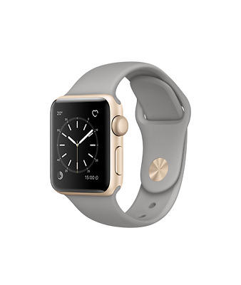 Apple Watch Sport Gold 38mm Aluminum Case with Concrete Sports Band (ML1366)