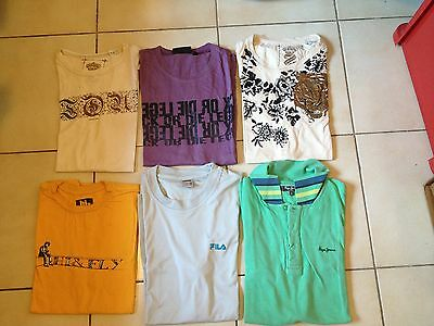 Lot 5 t-shirts + 1 polo de marque - PepeJean + Fila - Taille S/M occasion Soldes