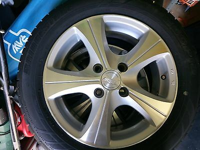 4 x15 inch Tyres 70-80% Tread and Alloy Speedy Rims+Spare Tyre Suits Ford Focus