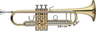 B Trompete, ML-Bohrung, Mundrohr in Goldmessing