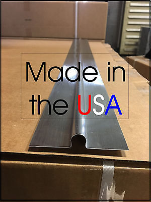 "100 - 4' Omega Aluminum Radiant Heat Transfer Plates for 1/2"" Pex Tubing"
