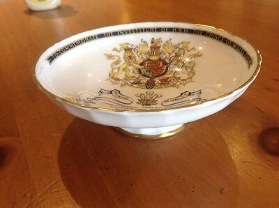 AYNSLEY CHINA Investiture of the PRINCE OF WALES 1969 commemorative footed dish