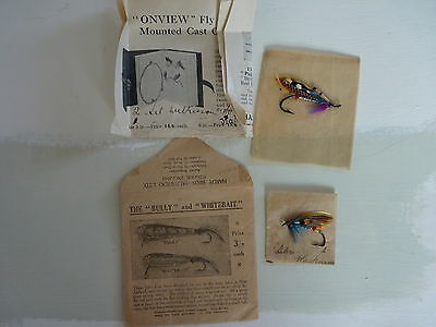 Vintage Hardy Salmon Flys In Hardy Packet