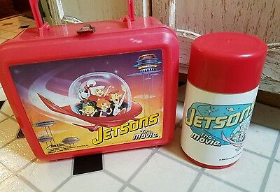 1990 Jetsons The Movie Lunchbox + Thermos Aladdin Hanna-Barbera Universal Red