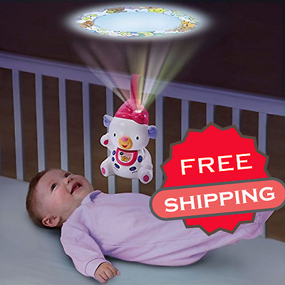 Baby Crib Sleepy Musical Toy Lullabies Bear Projector VTech For Sweet Dreams