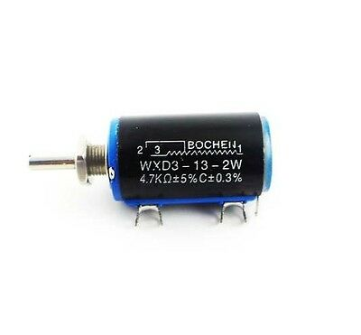 WXD3-13-2W 4.7K ohm Rotary Multiturn Wirewound Potentiometer NEW K9