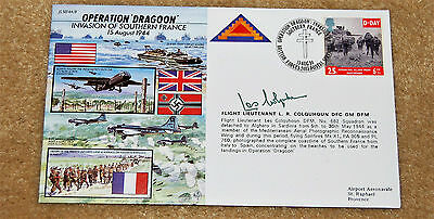 Fdc Operation Dragoon No 213 Of 712 Signed By Flight Lieutenant L R Colquhoun.