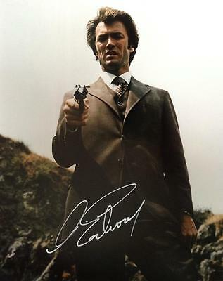 Clint Eastwood (Dirty Harry) Hand Signed 10x8 Photograph + COA
