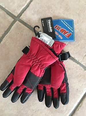 Boys Insulated Gloves Thinsulate Age 7-10