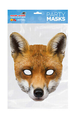 ** Fox Animal Party Mask Fancy Dress New ** Ladies Mens Childrens